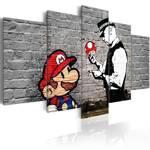 Obraz - Super Mario Mushroom Cop (Banksy)