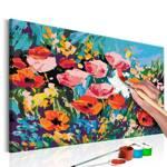 Obraz do samodzielnego malowania - Kolorowe kwiaty polne