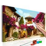 Obraz do samodzielnego malowania - Śródziemnomorskie miasteczko