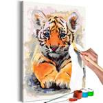 Obraz do samodzielnego malowania - Tygrysiątko